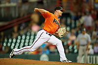 Richmond Flying Squirrels relief pitcher Caleb Simpson (29) delivers a pitch during a game against the Trenton Thunder on May 11, 2018 at The Diamond in Richmond, Virginia.  Richmond defeated Trenton 6-1.  (Mike Janes/Four Seam Images)