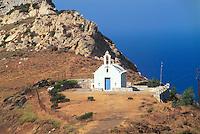- Naxos island (Cyclades), orthodox votive chapel on the road of the   north west coast..- isola di Naxos (Cicladi), cappella votiva ortodossa sulla strada della costa  nord occidentale..