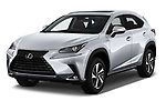 2019 Lexus NX 300h 5 Door SUV Angular Front stock photos of front three quarter view