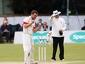 June 12th 2017, Trafalgar Road Ground, Southport, England; Specsavers County Championship Division One; Day Four; Lancashire versus Middlesex; Stephen Parry of Lancashire makes a successful appeal for the last Middlesex wicket to fall, Toby Roland-Jones trapped lbw; Parry finished with figures of 5-45