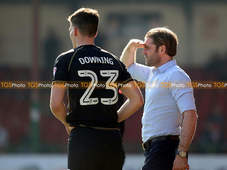 MK Dons Manager, Robbie Neilson, gets ready to bring on substitute, Paul Downing during Swindon Town vs MK Dons, Sky Bet EFL League 1 Football at the County Ground on 8th April 2017