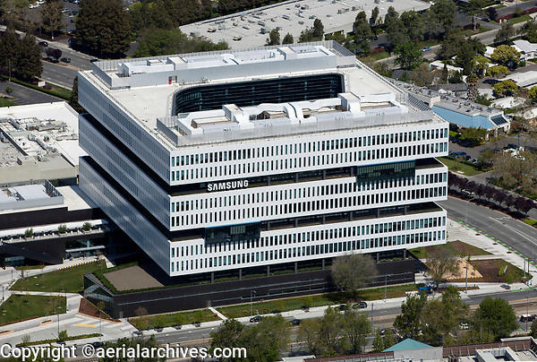 aerial photograph Samsung Semiconductor Silicon Valley Headquarters, San Jose, Santa Clara