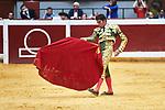 Spanish bullfighter Cayetano Rivera Ordoñez performs during the 1th bullfight of the San Sebastian Fair, at the Illumbe bullring, in San Sebastian, Spain, 14 August 2019. (ALTERPHOTOS/Yurena Paniagua)