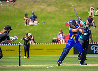 Action from the women's Twenty20 cricket match between the Wellington Blaze and Otago Sparks at Basin Reserve in Wellington, New Zealand on Friday, 28 December 2018. Photo: Dave Lintott / lintottphoto.co.nz
