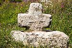 Ancient Celtic Christian stone cross, near St Buryan, Cornwall, England, UK