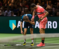 Rotterdam, The Netherlands, 17 Februari, 2018, ABNAMRO World Tennis Tournament, Ahoy, Tennis, David Goffin (BEL), Grigor Dimitrov (BUL)<br /> <br /> Photo: www.tennisimages.com