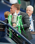 19.05.2018 Scottish Cup Final Celtic v Motherwell: Brendan Rodgers with cup