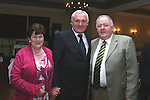 Priscilla and Liam Leddy with Bertie Ahern at Jimmy Mulroy's retirement party in the Westcourt Hotel...Photo NEWSFILE/Jenny Matthews.(Photo credit should read Jenny Matthews/NEWSFILE)....This Picture has been sent you under the condtions enclosed by:.Newsfile Ltd..The Studio,.Millmount Abbey,.Drogheda,.Co Meath..Ireland..Tel: +353(0)41-9871240.Fax: +353(0)41-9871260.GSM: +353(0)86-2500958.email: pictures@newsfile.ie.www.newsfile.ie.FTP: 193.120.102.198.