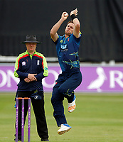 Matt Henry bowls for Kent during the Royal London One Day Cup game between Kent and Glamorgan at the St Lawrence Ground, Canterbury, on May 25, 2018