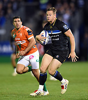 Chris Cook of Bath Rugby goes on the attack. European Rugby Champions Cup match, between Bath Rugby and Benetton Rugby on October 14, 2017 at the Recreation Ground in Bath, England. Photo by: Patrick Khachfe / Onside Images