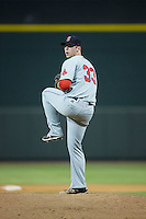 Salem Red Sox relief pitcher Ben Taylor (33) in action against the Winston-Salem Dash at BB&T Ballpark on June 16, 2016 in Winston-Salem, North Carolina.  The Dash defeated the Red Sox 7-1.  (Brian Westerholt/Four Seam Images)