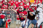 Wisconsin Badgers quarterback Scott Tolzien (16) throws the ball during an NCAA college football game against the Minnesota Golden Gophers on October 9, 2010 at Camp Randall Stadium in Madison, Wisconsin. The Badgers beat the Golden Gophers 41-23. (Photo by David Stluka)