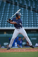 AZL Padres 1 Joshua Mears (48) at bat during an Arizona League game against the AZL Cubs 1 on July 5, 2019 at Sloan Park in Mesa, Arizona. The AZL Cubs 1 defeated the AZL Padres 1 9-3. (Zachary Lucy/Four Seam Images)