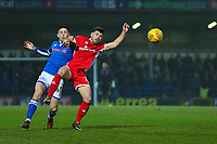 during the Sky Bet League 1 match between Rochdale and Walsall at Spotland Stadium, Rochdale, England on 23 December 2017. Photo by Juel Miah / PRiME Media Images.