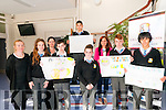 Anti Bullying:Pupils from Colaiste Na Riocht, Lios Tuathail dispalying their anti bullying slogans at Colaiste ns Riocht, Lios Tuatahail on Tuesday last during anti bullying week. L-R: Miss Enright, Diane Maloney, Miss O'Connor, Michael Hickey, Simon Bager, Mary McDonagh, Miss Foley, Chris Nihill & John Fokserang.