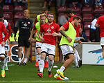 John Fleck of Sheffield Utd warms up during the English League One match at Glanford Park Stadium, Scunthorpe. Picture date: September 24th, 2016. Pic Simon Bellis/Sportimage