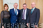 Leanne Ryan, John King, John O'Connell and Paddy Townes, pictured at the Kerry Supporters Social at Ballygarry House Hotel and Spa, Tralee, on Saturday night last.