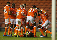 Blackpool's Joe Dodoo is swamped (bottom) by team-mates as he celebrates scoring his side's third goal <br /> <br /> Photographer Stephen White/CameraSport<br /> <br /> The EFL Sky Bet League One - Blackpool v Burton Albion - Saturday 24th November 2018 - Bloomfield Road - Blackpool<br /> <br /> World Copyright © 2018 CameraSport. All rights reserved. 43 Linden Ave. Countesthorpe. Leicester. England. LE8 5PG - Tel: +44 (0) 116 277 4147 - admin@camerasport.com - www.camerasport.com
