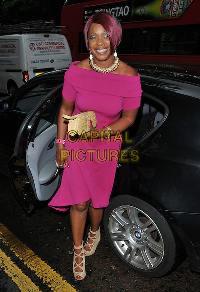 Sandy Channer at the &quot;Vamos Cuba!&quot; VIP gala night, Sadler's Wells Theatre, Rosebery Avenue, London, England, UK, on Tuesday 02 August 2016.<br /> CAP/CAN<br /> &copy;CAN/Capital Pictures