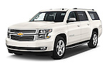 2015 Chevrolet Suburban 4WD 1500 LTZ 5 Door Suv Angular Front stock photos of front three quarter view
