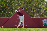 Thomas Pieters (BEL) on the 8th tee during Round 1 of the Abu Dhabi HSBC Championship 2020 at the Abu Dhabi Golf Club, Abu Dhabi, United Arab Emirates. 16/01/2020<br /> Picture: Golffile | Thos Caffrey<br /> <br /> <br /> All photo usage must carry mandatory copyright credit (© Golffile | Thos Caffrey)