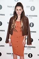 Amber Davies<br /> arriving for the Radio 1 Teen Awards 2018 at Wembley Stadium, London<br /> <br /> ©Ash Knotek  D3454  21/10/2018