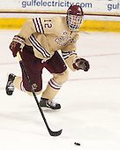 Kevin Hayes (BC - 12) - The Boston College Eagles defeated the visiting University of Notre Dame Fighting Irish 4-2 to tie their Hockey East quarterfinal matchup at one game each on Saturday, March 15, 2014, at Kelley Rink in Conte Forum in Chestnut Hill, Massachusetts.