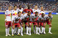 New York Red Bulls starting eleven during a Barclays New York Challenge match against Tottenham Hotspur F. C. at Red Bull Arena in Harrison, NJ, on July 22, 2010.