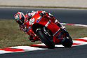 July 2, 2010 - Catalunya, Spain - American rider Nicky Hayden powers his bike during a free practice cession of the Catalunya Grand Prix on July 2, 2010. (Photo Andrew Northcott/Nippon News).