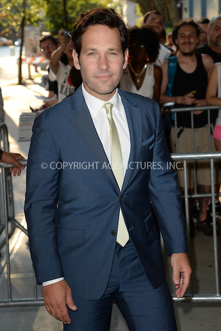 WWW.ACEPIXS.COM<br /> July 13, 2015 New York City<br /> <br /> Paul Rudd attending a screening of Marvel's 'Ant-Man' at SVA Theatre on July 13, 2015 in New York City.<br /> <br /> Credit: Kristin Callahan/ACE Pictures<br /> <br /> Tel: 646 769 0430<br /> e-mail: info@acepixs.com<br /> web: http://www.acepixs.com