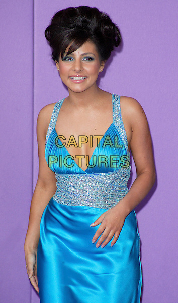 ROXANNE PALLETT .British Soap Awards 2008, held at the BBC Studios, London, England, UK,  May 3rd 2008..full length turquoise blue dress silver silk satin.CAP/ROS.©Steve Ross/Capital Pictures