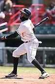 April 15th 2008:  Outfielder Kenard Jones (2) of the Bowie Baysox, Class-AA affiliate of the Baltimore Orioles, during a game at Jerry Uht Park in Erie, PA.  Photo by:  Mike Janes/Four Seam Images