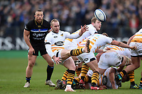 Dan Robson of Wasps box-kicks the ball. Heineken Champions Cup match, between Bath Rugby and Wasps on January 12, 2019 at the Recreation Ground in Bath, England. Photo by: Patrick Khachfe / Onside Images