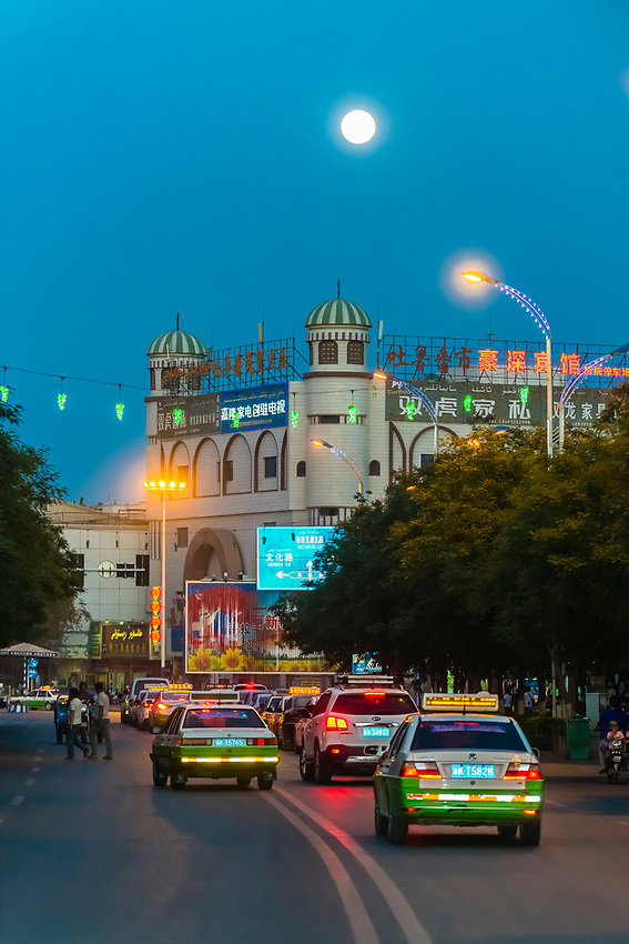 Turpan, Xinjiang Province, China. Turpan is a small oasis town and former Silk Road outpost.