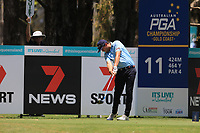 Callan O'Reilly (AUS) on the 11th tee during Round 1 of the Australian PGA Championship at  RACV Royal Pines Resort, Gold Coast, Queensland, Australia. 19/12/2019.<br /> Picture Thos Caffrey / Golffile.ie<br /> <br /> All photo usage must carry mandatory copyright credit (© Golffile | Thos Caffrey)