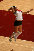 27 October 2005: Katie Goldhahn during Stanford's 3-0 win over Oregon at Maples Pavilion in Stanford, CA.