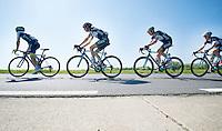 Simon Yates (GBR/Orica-GreenEDGE) + Wout Poels (NLD/OPQS) + Pieter Serry (BEL/OPQS) + Jan Bakelants (BEL/OPQS)<br /> <br /> Brabantse Pijl 2014