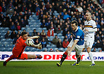 Jon Daly scores for Rangers as he beats keeper Danny Rogers