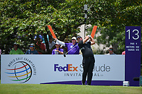 Patrick Reed (USA) watches his tee shot on 13 during round 2 of the WGC FedEx St. Jude Invitational, TPC Southwind, Memphis, Tennessee, USA. 7/26/2019.<br /> Picture Ken Murray / Golffile.ie<br /> <br /> All photo usage must carry mandatory copyright credit (© Golffile | Ken Murray)