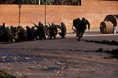 Moscow, Russia.October 4, 1993..Russian troops move into position, near the US Embassy surrounding the Parliament building in hopes of removing hundreds of well armed anti-Yeltsin demonstrators held up inside.