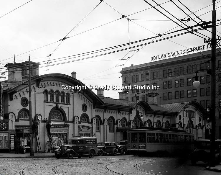 Pittsburgh PA: The North Side Market House was located at Ohio and Federal streets. Fresh fruits, vegetables, breads and meats were available for wholesale and retail customers.  There was a sister Market House across town in East Liberty - 1936.  The North Side Market was razed in 1965 to make room for the new office and mall complex, Allegheny Center.