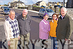 DANGER: Locals in Ballybunion who are warning of the dangers on Church Road where it is hoped a pedestrian crossing will be installed, l-r: Cllr Robert Beasley, Des Burke, Una Mulcaire, Anne Laurent, Jimmy Buckley.