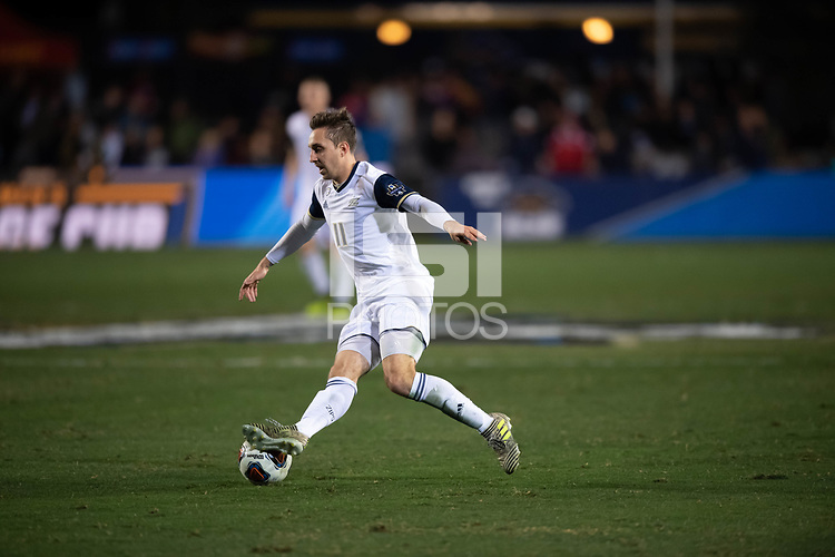 Santa Barbara, CA - Friday, December 7, 2018:  Akron men's soccer defeated Michigan State 5-1 in a semi-final match in the 2018 College Cup.  Marcel Zajac
