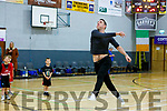 Declan O'Sullivan as he aims for the basket from the half way line during the interval in the Tralee Warriors v UCC Demons National Cup Quarter Final game in the Tralee Sports Complex on Sunday