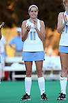 17 October 2014: North Carolina's Mackenzie Mick. The Duke University Blue Devils hosted the University of North Carolina Tar Heels at Jack Katz Stadium in Durham, North Carolina in a 2014 NCAA Division I Field Hockey match. UNC won the game 1-0.