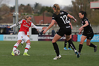 Jordan Nobbs of Arsenal hits the crossbar with a shot during Arsenal Women vs Bristol City Women, Barclays FA Women's Super League Football at Meadow Park on 1st December 2019