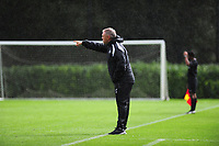 Jon Grey coach of Swansea City in action during the Premier League u18 match between Swansea City AFC and Chelsea FC at Landore Training Ground, Wales, UK. Tuesday 11th September 2018