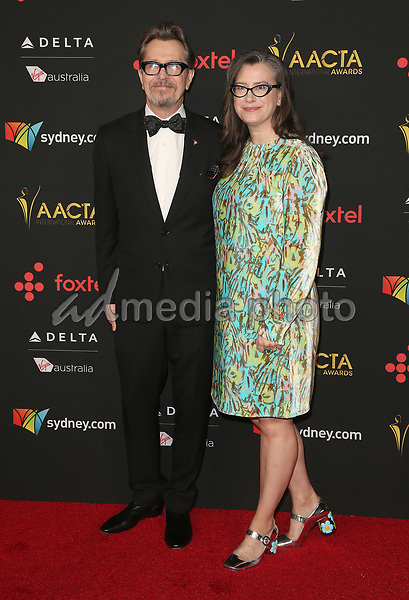 05 January 2018 - Hollywood, California - Gary Oldman, Gisele Schmidt. 7th AACTA International Awards held at Avalon Hollywood. Photo Credit: F. Sadou/AdMedia