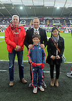 Lee Trundle (C) during the Barclays Premier League match between Swansea City and Bournemouth at the Liberty Stadium, Swansea on November 21 2015