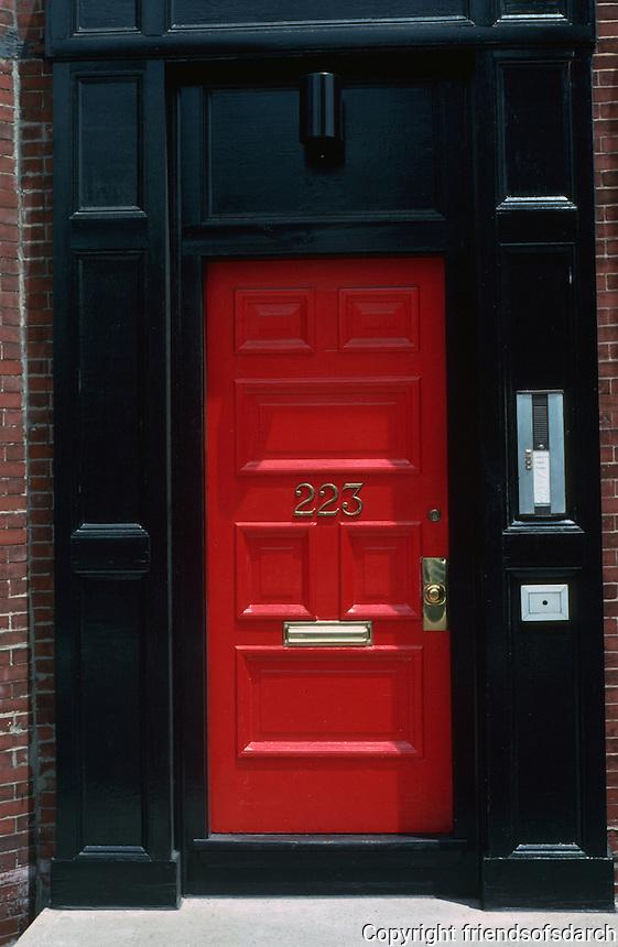Boston:  Back Bay door--No. 223 W. Newton.  Photo '91.